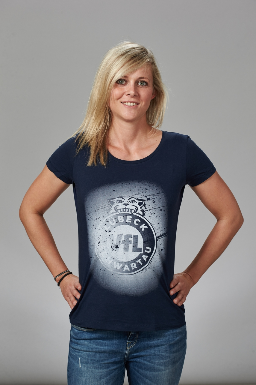 """T-Shirt """"Sprayed"""" Damen in blau – Fanshop – VfL Lübeck-Schwartau cc10afef22"""