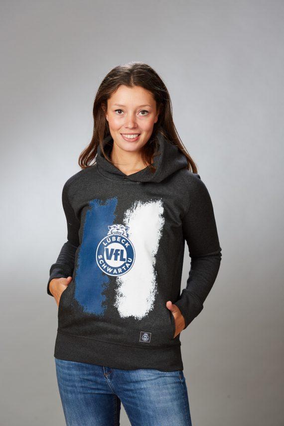 VFL-Lübeck-Schwartau – Handball – Fanshop-Hoodie Ein Verein Zwei Farben Damen