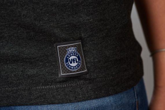 VFL-Lübeck-Schwartau – Handball – Fanshop-TShirt Label anthrazit