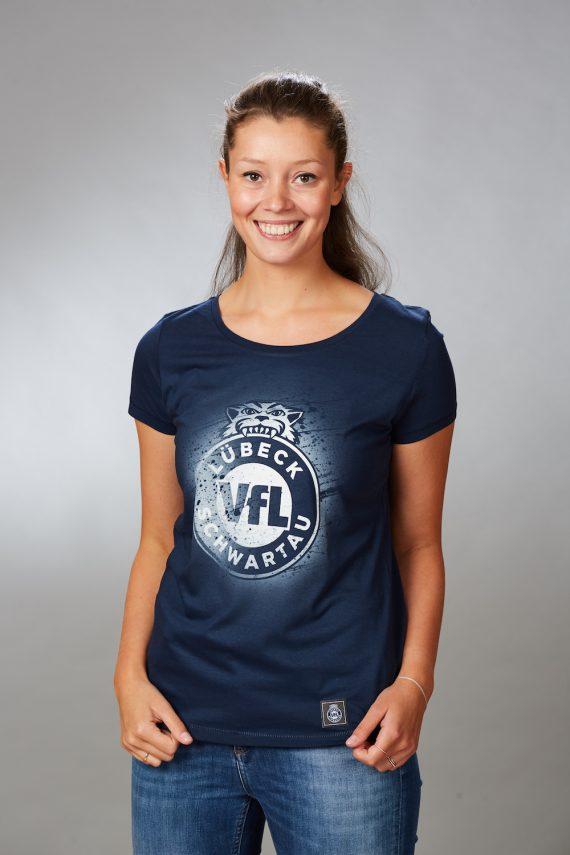 VFL-Lübeck-Schwartau – Handball – Fanshop-TShirt sprayed Damen
