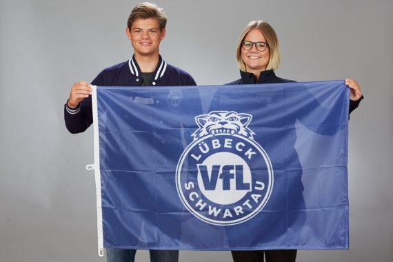 VfL Lübeck-Schwartau – Handball – Fanshop – Flagge