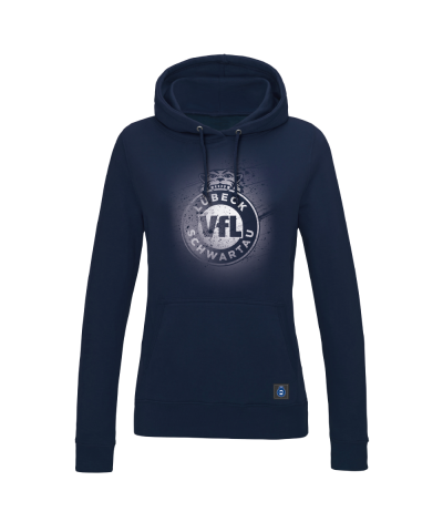"Hoodie ""Sprayed"" Damen in navy"