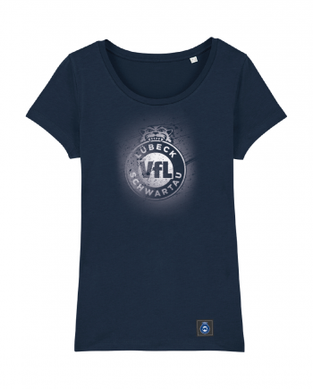 "T-Shirt ""Sprayed"" Damen in navy"
