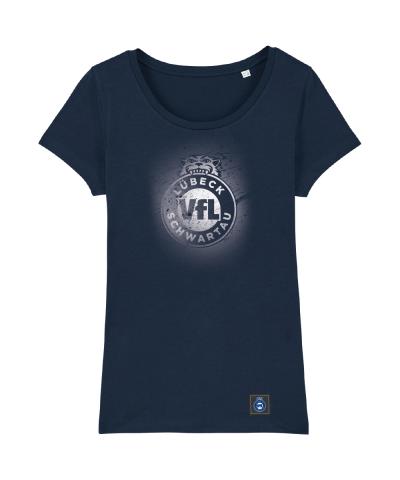"""T-Shirt """"Sprayed"""" Damen in navy"""