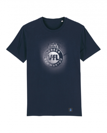 "T-Shirt ""Sprayed"" Herren in navy"