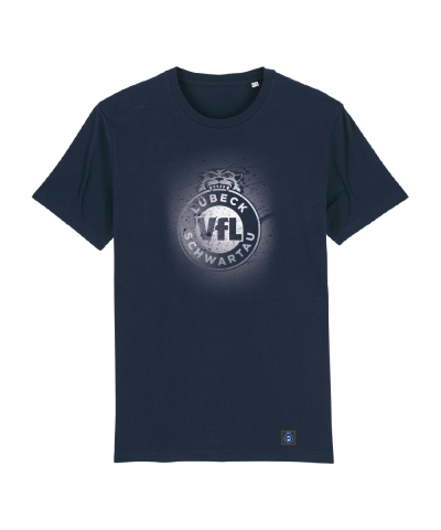 "T-Shirt ""Sprayed"" Herren in navy"