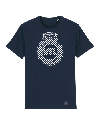 """T-Shirt """"Zebra"""" Herren in navy"""